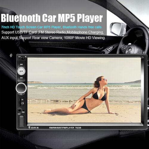 """2Din 7/""""Autoradio Écran Tactile Voiture Car Stéréo MP5 Player USB AUX BT FM Radio"""