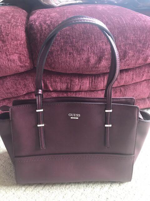 5570f953d40fa GUESS Devyn Large Satchel Bordeaux Handbag Women s Shoulder Bag for ...