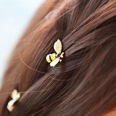 EE/_ LC/_ Girls Shiny Rhinestone Inlaid Peacock Barrette Fringe Bang Hair Clip Cla