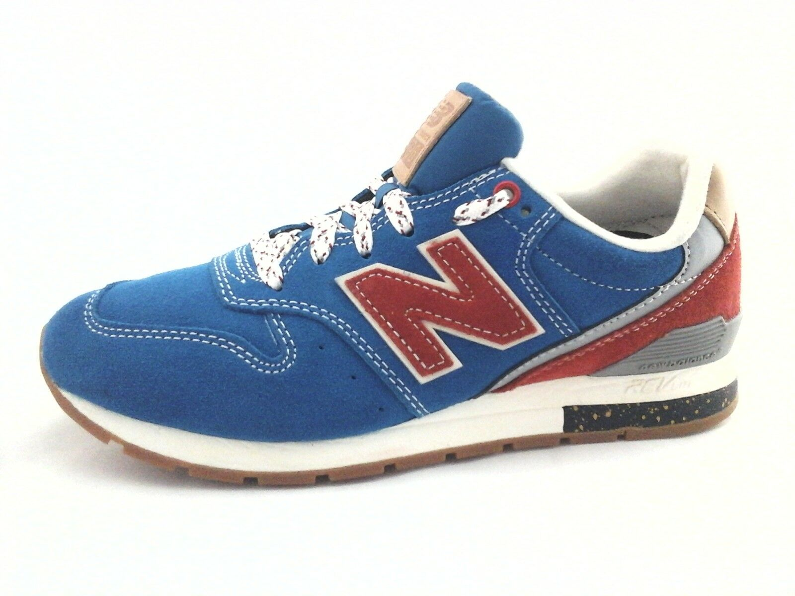 NEW BALANCE 996 bluee Red Suede Retro shoes MRL996AT Men's Mens 5.5 Women's 7 New