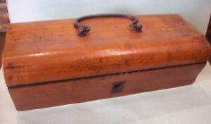 Antica scatola legno da cucito CARLO X inizio '800 - x ago, filo,ditale ,agoraio