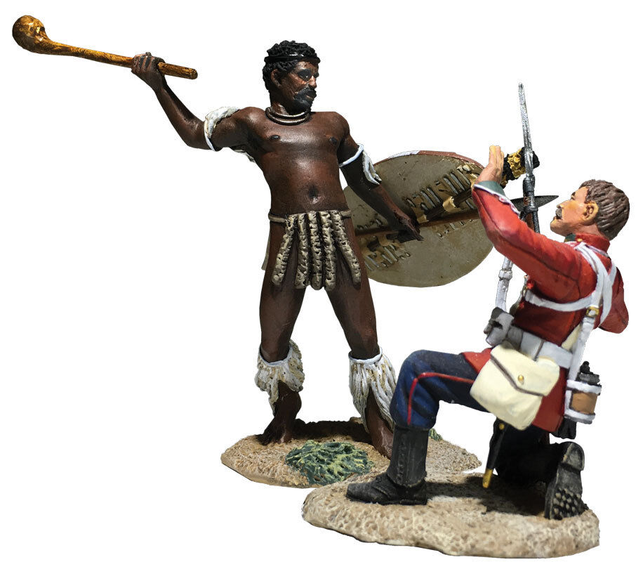 """BRITAINS 20182 - """"Closing In"""" British 24th Foot and Zulu Hand-to-Hand Set"""