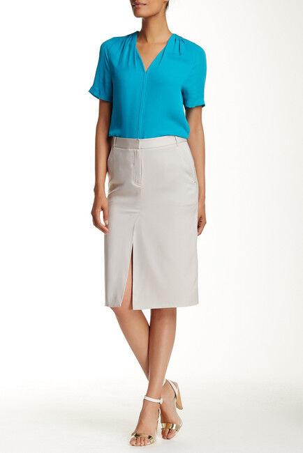 Halston Heritage Midi Silk Blend Pencil Skirt NWT  295   SZ 2   C098