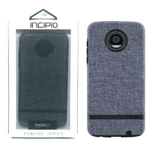 low priced 651e1 d8a22 Details about Incipio Esquire Series Cover New Protective Case - Motorola  Moto Z2 Play - Gray