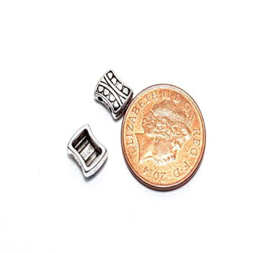 20 x Tibetan dark Silver 2 hole Style Alloy Beads A0453