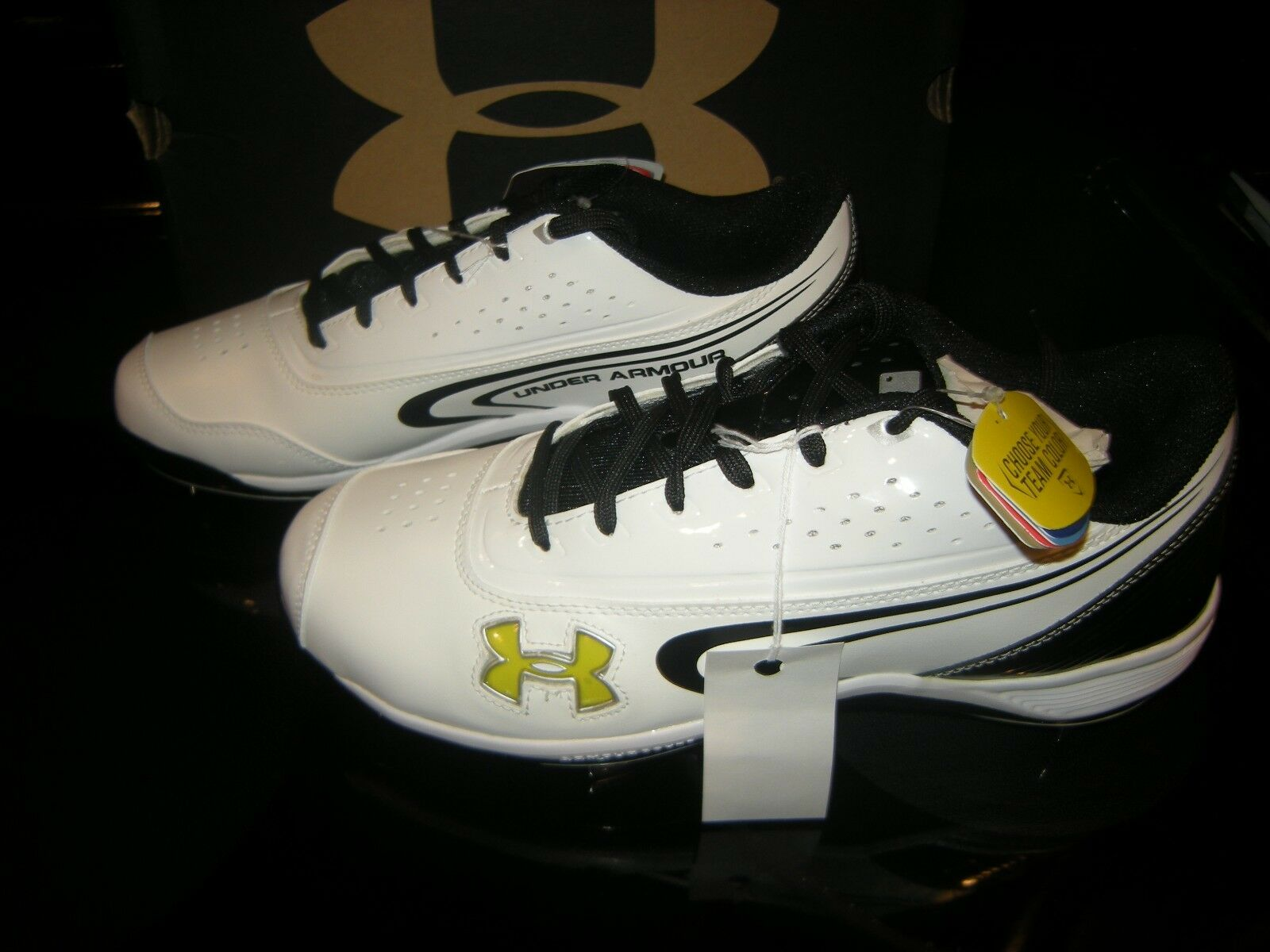 66f1fe6c77d46 New Mens Black White Under Armour Ignite III III III Low St C Metal  Baseball Cleats 11.5 f758c0