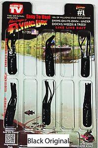 """2"""" Alex Langer S Noir Original Flying Lure Clam Pack. 6 Leurres +1 Crochet.-afficher Le Titre D'origine Art De La Broderie Traditionnelle Exquise"""