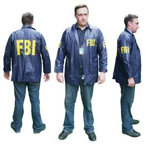 FBI-034-SPECIAL-AGENT-034-Windbreaker-JACKET-Lot-of-Fancy-Dress-New-Optional-ID