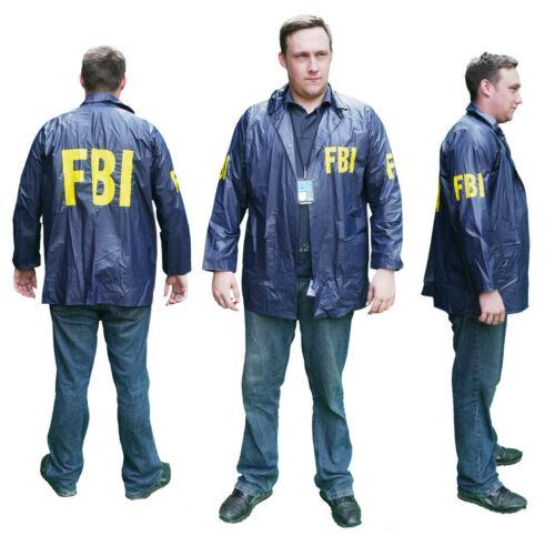 """Lot of Fancy Dress FBI /""""SPECIAL AGENT/"""" Windbreaker JACKET Costume New"""