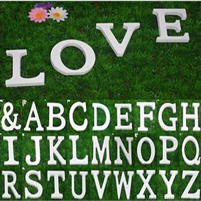 New White Wood Wooden Letter Wedding Party Birthday Xmas Home Garden Decoration