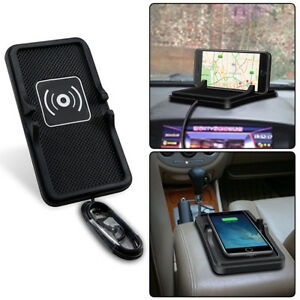 Car-Qi-Wireless-Charging-Charger-Holder-Dashboard-Non-Slip-Mat-Pad-For-Mobile
