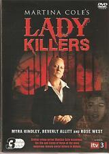 Martina Cole's Lady Killers - MYRA HINDLEY ROSE WEST BEVERLEY ALLITT  3 DVD SET