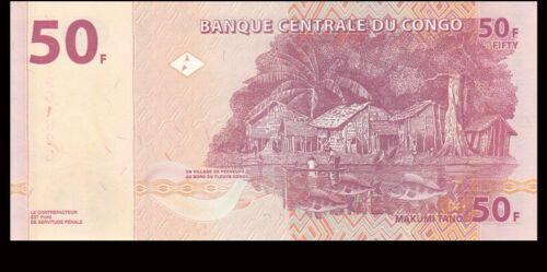 2007-2013 UNC combined shipping P-97 banknote Congo 50 Francs
