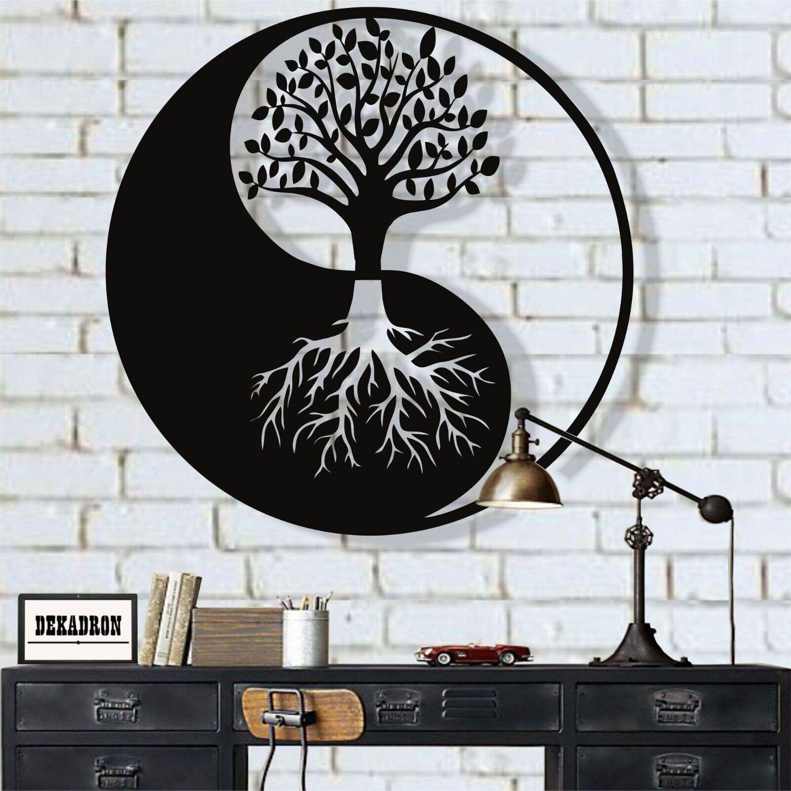 Metal Family Tree Metal Wall Decor Metal Yin Yang Decor tree of Life Art