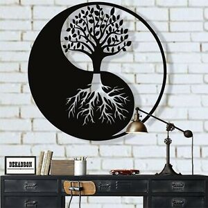 Metal Family Tree Metal Wall Decor Metal Yin Yang Decor Tree Of Life