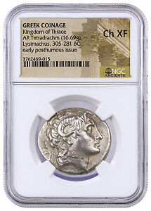Greek-Thrace-Silver-Tetradrachm-Early-Posthumous-Lysimachus-NGC-Ch-XF-SKU42222