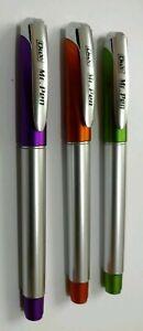 3 X Dux Mr Pen Fountain Pen With Silver Body And Brown Lid &bottom For Beginners êTre Nouveau Dans La Conception