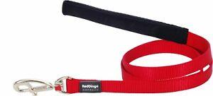Red-Dingo-plomo-Clasico-Liso-Para-Perro-Cachorro-Rojo-Libre-P-amp-P