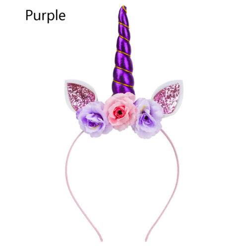 Cute Baby Unicorn Hair Hoop Girl Rabbit Ear Glitter Cosplay Costume Hairband
