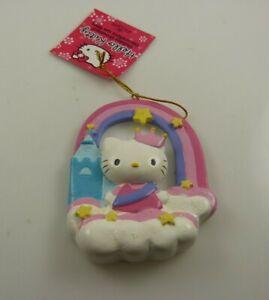 Hello-Kitty-Sanrio-castle-rainbow-clouds-Christmas-ornament-Kurt-S-Adler-xmas