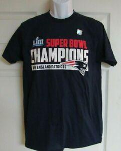 New-England-Patriots-NFL-T-Shirt-2019-Super-Bowl-LIII-Champions-M-to-XXL