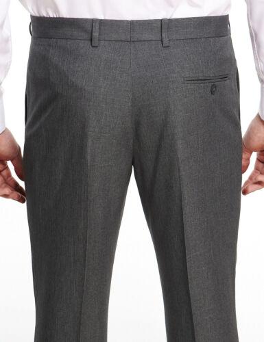 Marks /& spencer homme classique pantalon gris nouveau m/&s active taille smart pantalon long