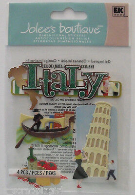 Jolee's Boutique ITALY Dimensional Stickers; Venice, Leaning Tower of Pisa, Food