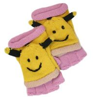 David & Young Critter Animal Gloves - Hand Flip Top Style - BEE