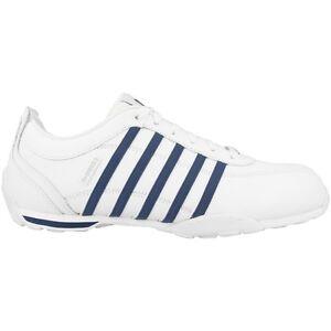 K-Swiss-Arvee-1-5-Chaussures-Baskets-blanc-bleu-Lozan-Rinzler-Hoke-Turf