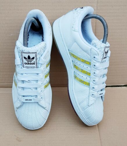 Trainers White Adicolor 5 Excellent Rare Superstar Deadstock Size Uk Adidas nIUtXBtqfx