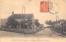 CPA 77 VERNEAU LES ROUTES DE SAINT LEU ET DE CESSON