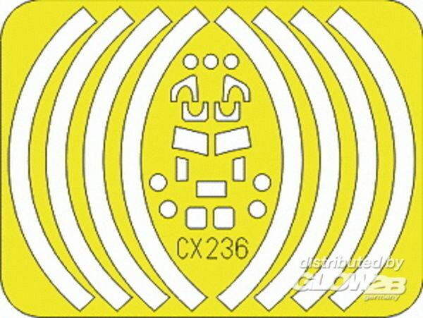 Eduard Accessories CX236 Maskierfolie Luftfahrt E-2C Für Hasegawa Bausatz