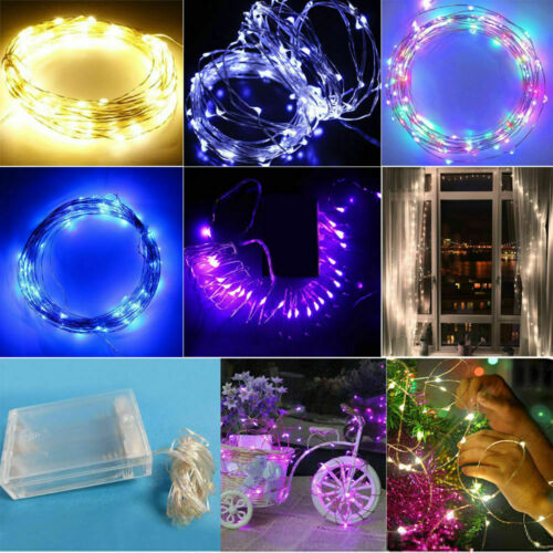 5M 10M Battery Power Copper Wire Waterproof LED String Lights Holiday Party Xmas