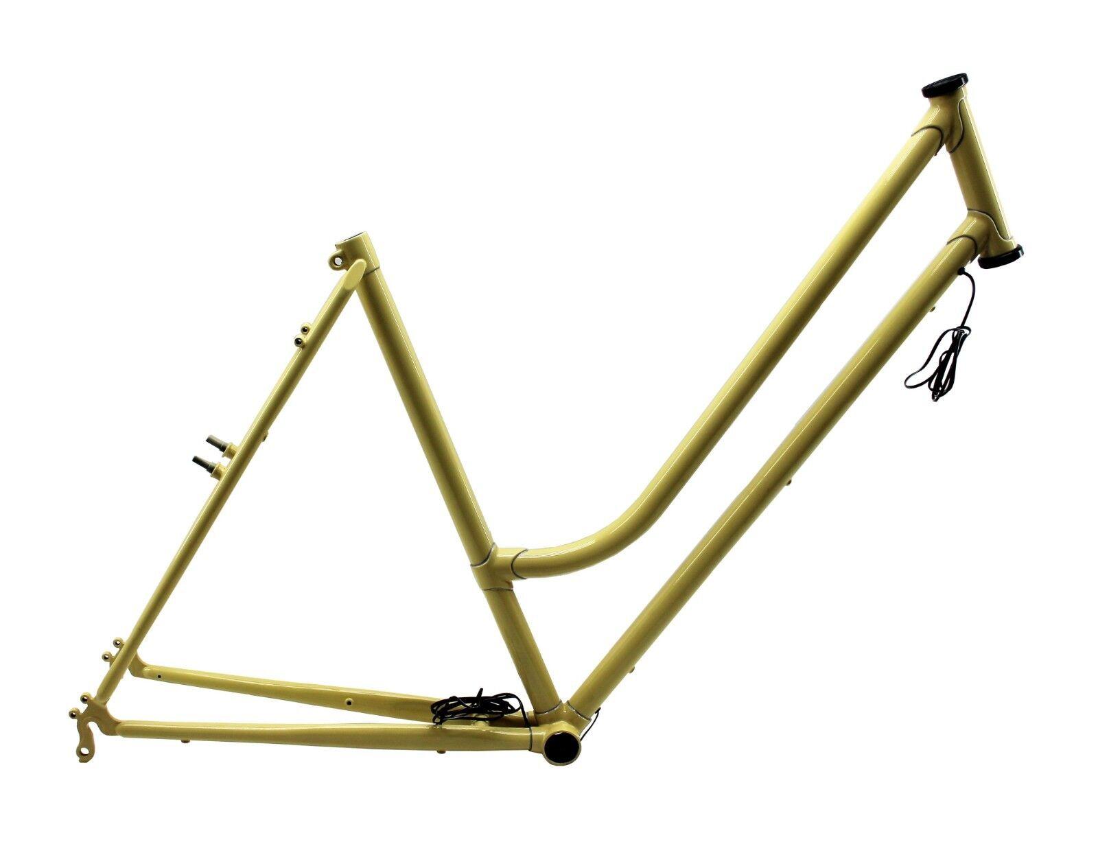 Acero Cuadro Bicicleta Nostalgia 28  , Rh 55cm,Ketteschaltung,BSA Lagermaß