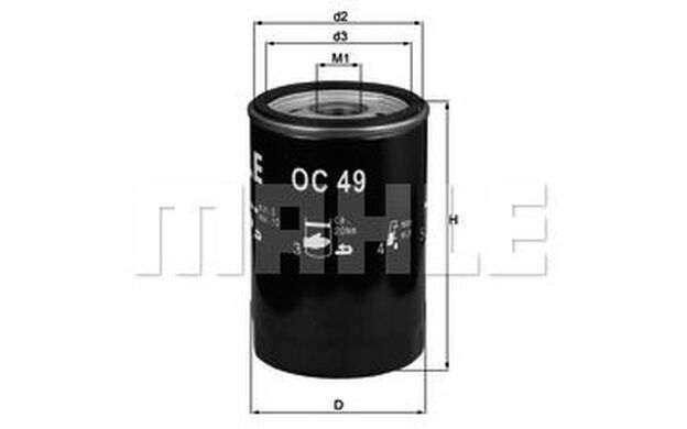 KNECHT Filtro de aceite CITROEN BMW Serie 3 5 ALPINA C2 C1 MASERATI MERAK OC 49
