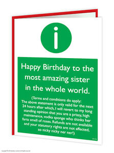 Brainbox candy sister sis birthday greeting cards funny rude cheeky image is loading brainbox candy sister sis birthday greeting cards funny m4hsunfo