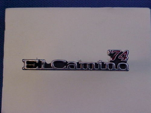 1974 Chevrolet EL CAMINO jacket//hat pin collectible--mint brand new 74 Chevy pin