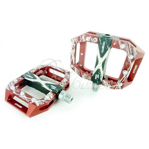 NEW XPEDO BMX MTB MX 20 BIKE PEDALS RED 9 16  ( wellgo) Magnesium