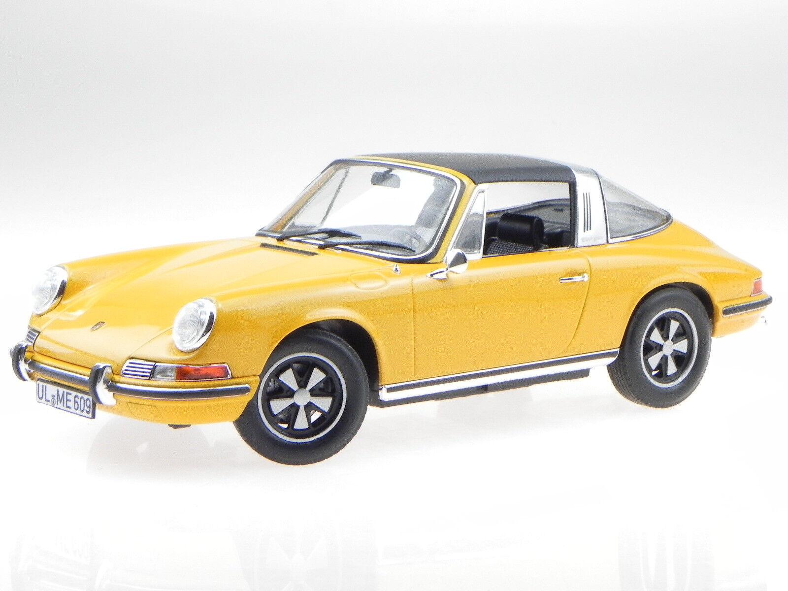 Porsche 911 E Targa 1969 orange diecast modelcar 187633 Norev 1 18