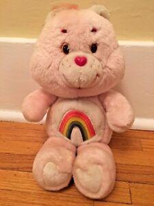 Kids pink rainbow Care Bears inspired kids custom ceramic Christmas ornament 80/'s 2.75 inch custom name kids