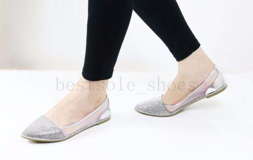 WOMENS LADIES DIAMANTE SLIP ON FLATS LOAFERS SANDALS PLIMSOLLS PUMPS SHOES SIZE