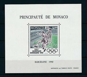 [22324] Monaco 1992 Olympic Games Barcelona Soccer Special Perforated M/S MNH