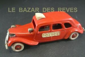 NOREV FRANCE. CITROEN TRACTION 15 six. POLICE. (rouge)