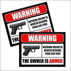 2 CCTV VIDEO SURVEILLANCE Security Burglar Alarm Decal Warning Sticker Signs