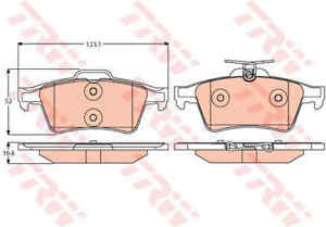 ORIGINAL TRW Plaquettes De Freins gdb1938 pour Essieu arrière Mazda