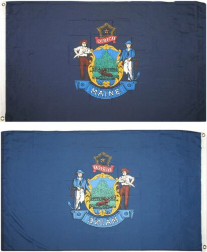 3x5 State of Maine Flag 3/'x5/' House Banner Polyester grommets fade resistant