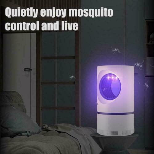 Electric Fly Bug Trap Mosquito Insect Killer LED Light Control Pest Lamp F5D6