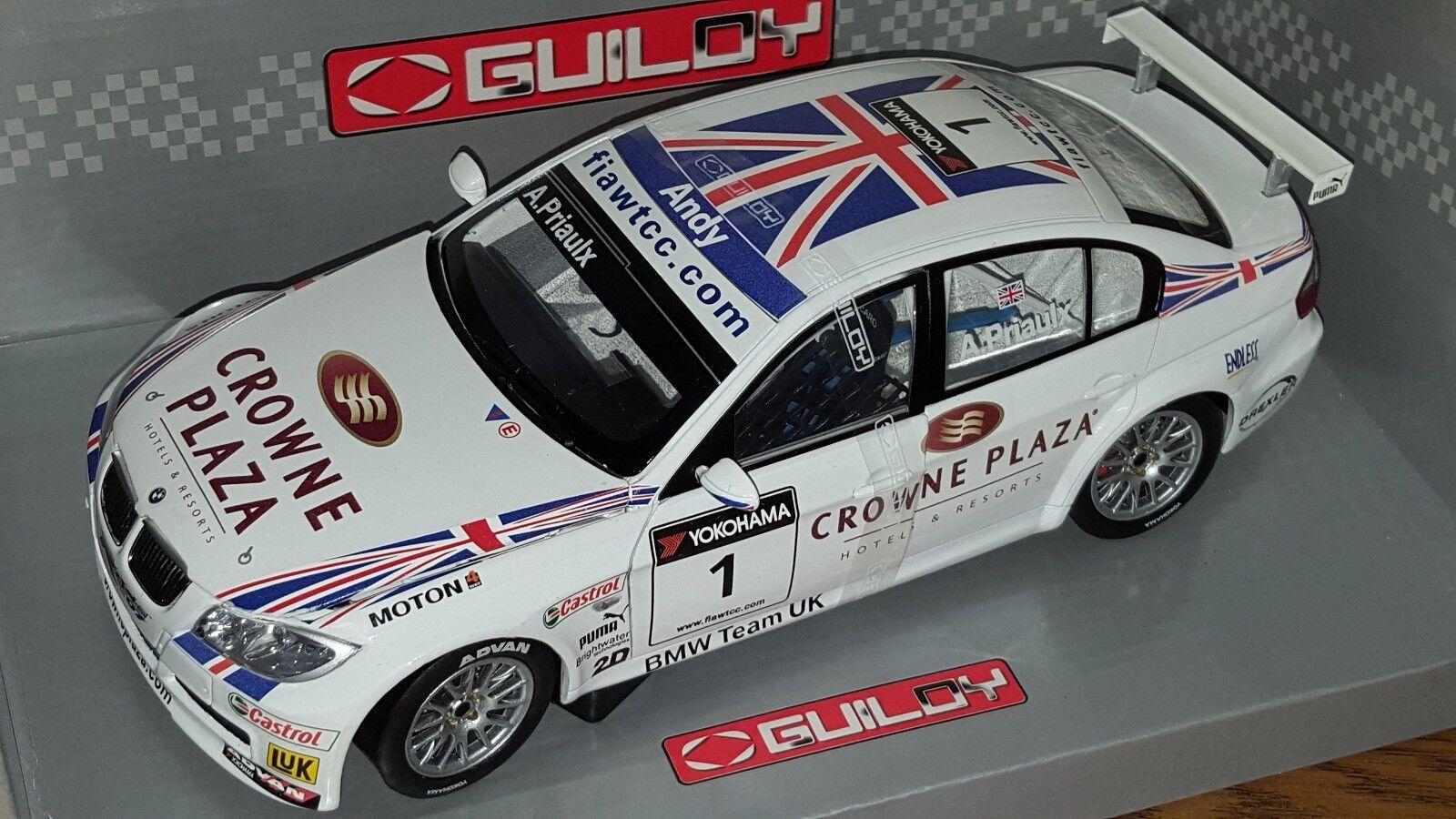 1 18 GUILOY BMW 320si WTCC  ANDY PRIAULX  BMW TEAM UK-RBM
