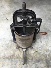 Vintage Shapleigh Cast Iron 8 Quart Sausage Stuffer Deer Fruit Press Juicer