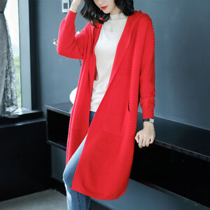 4730 Jersey Encolure Pull Ronde Chaud Doux Cardigan Rouge Confortable nx768HqwOB
